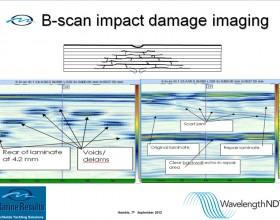 B-Scan impact damage