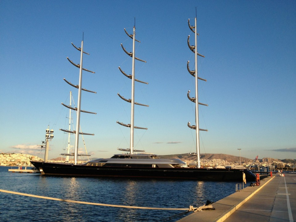 Complete standing rigging refit for Maltese Falcon carried out by Marine Results